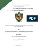 Gasto público en aprendizajes y comprensión lectora de estudiantes del nivel primario de la región Ayacucho, 2013-2018.