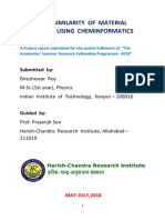 Study on Similarity of Material Properties Using Cheminformatics Approach(Corrected)