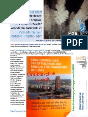 Amerykanski agent M26 Odrzucenie decyzji PK RP z 18.09.19 SSetKh von Stefan Kosiewski ZR 20190922 3D Testament gen. Milewskiego PDO353