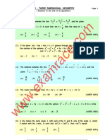 Mathematics 3D Geometry MCQ