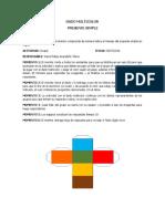 Justificación Dado Multicolor en Ingles