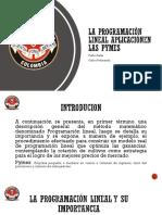 Aplicacion de Programacion Lineal a las Pymes