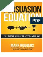 Ecuación de La Persuasión - 1