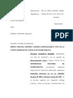 Contestacion Demanda Constitucional de Amparo Alejandro Zuñiga Condori 2017