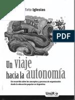Un viaje hacia la autonomía - Tato Iglesias