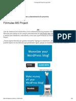 Fórmulas MS Project _ El Ring de PM
