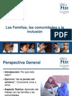 las familias las comunidades y la inclusion