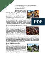 Principales Lugares Turísticos y Áreas Protegidas de Guatemala