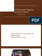 PPT Filipino Grievances Against Governor Wood