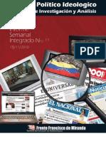 Informe Semanal Integrado nº11