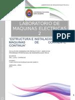 ESTRUCTURA E INSTALACION DE LAS MAQUINAS DE CORRIENTE CONTINUA