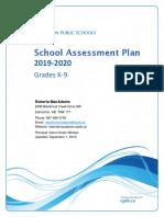 school assessment plan 2019-2020  1