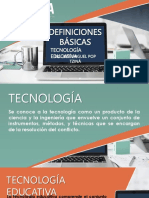 Definiciones Básicas Tecnologia Educativa