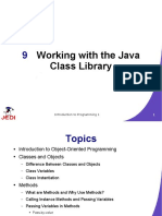LECTURE 7 - Working With Java Class and Method