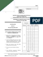 SPM Mid Year 2008 SBP Maths Paper 2 Question