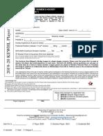 KEWHL Registration Form 2019 2020