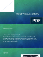 Front Wheel Geometry