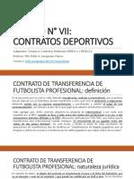Unidad N° 7 - Contratos Deportivos