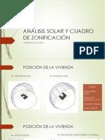 Análisis Solar y Cuadro de Zonificación