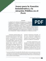Lectura de La Funcion Publica Administrativa
