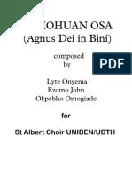 Ovbiohuan Osa (Agnus Dei in Bini)