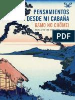 No Chmei Kamo - Pensamientos Desde Mi Cabaña