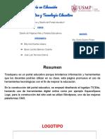 Estructura y Diseño Del Portal Educativo