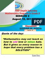 2019 MTAP -Session 2 Grade 6