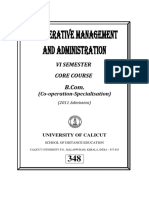 Co-operative Management and Administrati