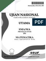 Bocoran Soal UN Matematika SMA IPS 2019 Rukim.id