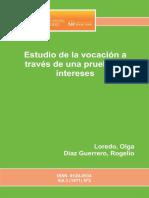 Estudio de La Vocacion a Traves - Loredo, Olga; Diaz Guerrero, Ro