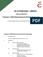 Progress in DNA-Seq GE