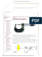 El Tornillo Micrométrico - Física I