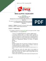 TRIBUTARIO- Ley 812 Modificatoria a La Ley 2492 (CTB)