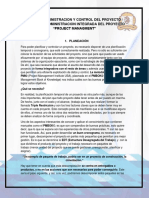 Unidad i Administracion y Control Del Proyecto