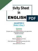 Activity Sheet in English 6 Quarter 2 We (7)