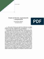 Atienza - Estado de Derecho Argumentacion e Interpretacion