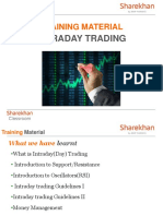 Training Material on Intraday Trading