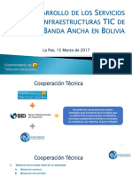 Desarrollo TIC de banda ancha Bolivia