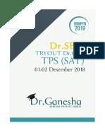 TryOut TPS Dr.Ganesha