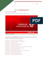 RAC Lab Part 10 – Installing Grid Infrastructure
