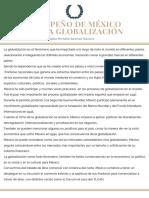 Desempeño de México Ante La Globalización