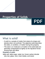 Properties of the solids