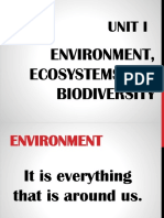 Environment, Ecosystems and Biodiversity