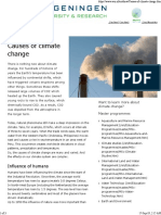 Causes of Climate Cahnge