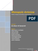 Monopole Antenna Project