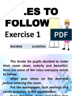 Exercise 1 Rules to Follow