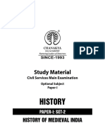 History of Medieval India Paper-I, Set-2