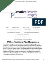 ERM vs. Traditional Risk Management