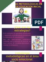 Estrategias Metodológicas en El Primer Ciclo de Educación Ppt Lindz